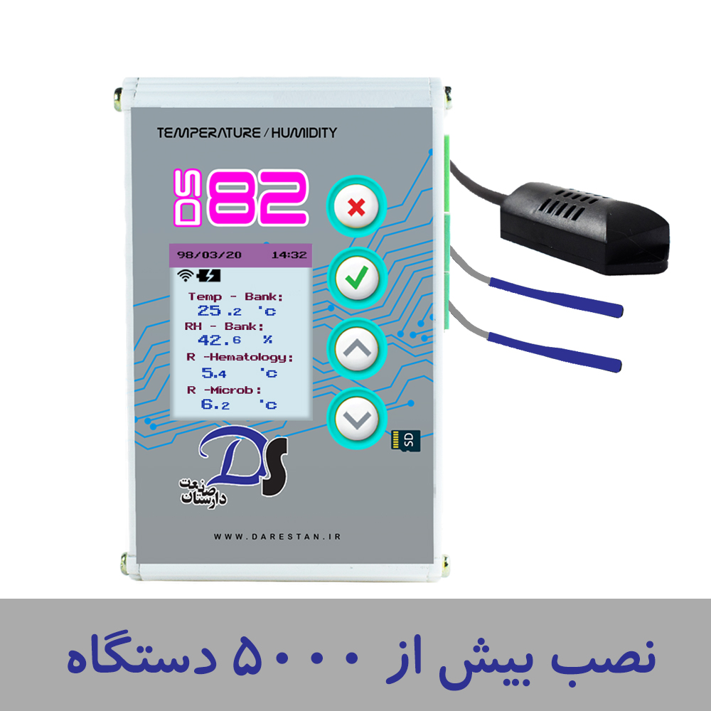 نصب بیش از پنج هزار دستگاه دیتالاگر دما و رطوبت در مراکز مختلف درمانی و تحقیقاتی کشور.