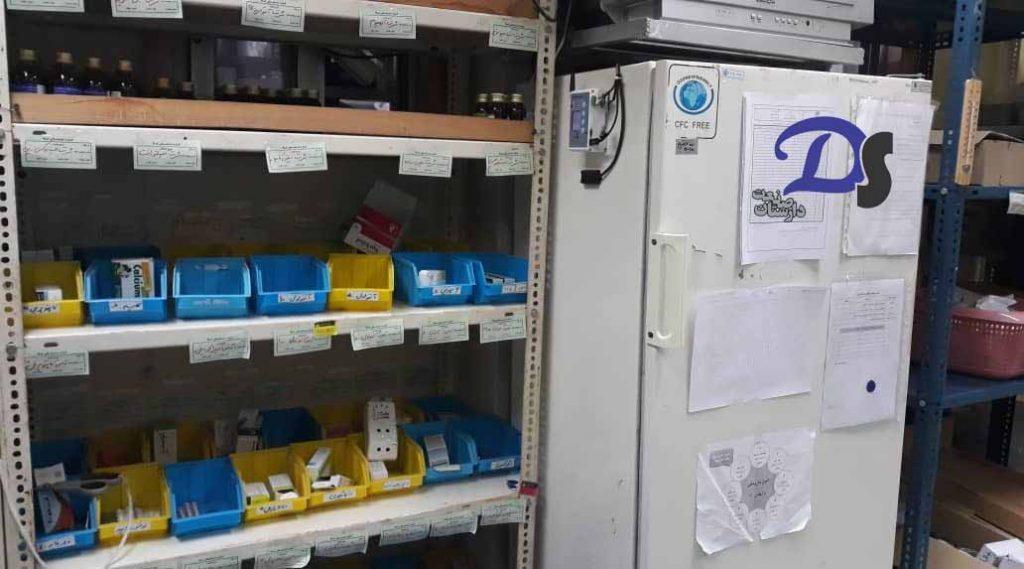 ثبت دما و رطوبت انبار دارویی